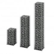 vidaXL Gabion Set 3 pcs Wall Galvanized Wire Different Sizes