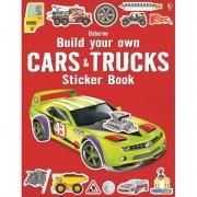 Build Your Own Cars And Trucks Sticker, Carte Usborne Engleza