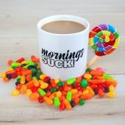BigMouth Mornings Suck beker