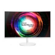"""Samsung Monitor Curvo 32"""" Samsung Lc32h711qeuxen Ch711 Qled Wqhd Hdmi Refurbished Silver"""