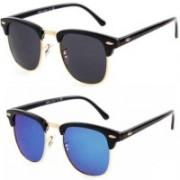 Dannilo Clubmaster Sunglasses(Blue, Black)