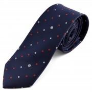 Tailor Toki Cravate bleu foncé à pois