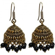 Lucky Jewellery Trendy Black Color Oxidised Plating Earring For Girls & Women