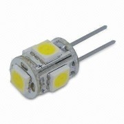Bec LED 1W 5 LEDuri SMD Bulb G4 Alb Cald