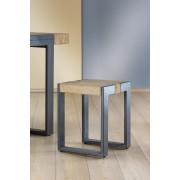 Taburet TURIN, metal lemn, 36x36x45 cm