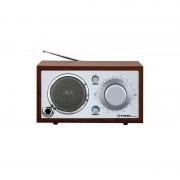 Radio tipo retro portatil en color madera
