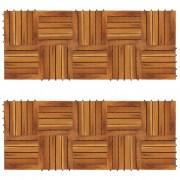vidaXL Set dale din lemn de salcâm cu model vertical 30 x 30 cm, 20 buc.