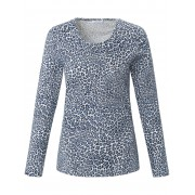 Efixelle Rundhals-Shirt Efixelle mehrfarbig Damen 46 mehrfarbig