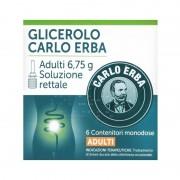 Glicerolo Carlo Erba Adulti Microclismi, confezione con 6 contenitori da 6.75g