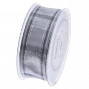 Szalag kockás 40mmx20m ezüst szürke