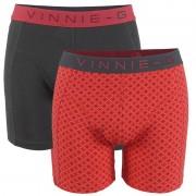 Vinnie-G Flamingo boxershorts 2-pack Antraciet/Print-XL