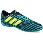 Adidas Mens Blue Lace-Up Running Shoes