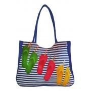 Flops textilní taška na pláž modrá