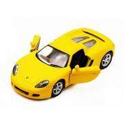 Kinsmart - Porsche Carrera GT Matte Finish [4.5 inch] Die-Cast with Openable Doors & Pull Back Action (Yellow)