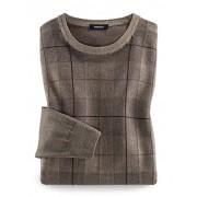 Walbusch Pullover Gitterkaro