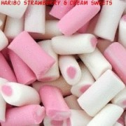 Haribo Strawberries & Cream Candy Sweets