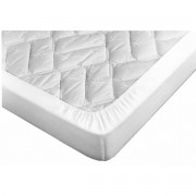 Terre de Nuit Drap Housse Blanc pour Canapé Lit Bonnet 15 cm 135x185