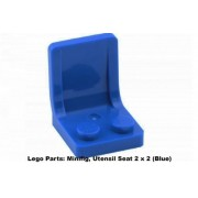 Lego Parts: Minifig Utensil Seat 2 x 2 (Blue)
