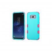 Funda Case Para Samsung S8 Plus Doble Protector De Plástico Super Resistente TUFF Uso Rudo - Aqua Con Rosa