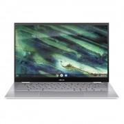 Notebook Chromebook Flip C436FA, FHD Touch, Procesor Intel® Core™ i5-10210U (6M Cache, up to 4.20 GHz), 8GB, 128GB SSD, GMA UHD, Chrome OS, Aerogel White