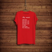 Imprimeu tricou MY WEEK