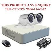 Hikvision 2 MP HD Turbo DS-7104HQHI-F1-Mini 4CH DVR + Hikvision Turbo IRPF Bullet Camera 2pcs Combo