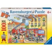 PUZZLE DEPARTAMENTUL POMPIERILOR 100 PIESE Ravensburger