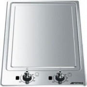 Smeg 30cm Teppanyaki Domino Hob, Stainless Steel - PGF30T-1