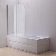 Aquaneo Duschabtrennung Badewanne, Links oder Rechts montierbar-klarglas-links