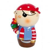 Merkloos Rode piraat spaarpot 14 cm