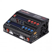 UP100AC Dual Port LiPo 100Watt 10/6Amp AC DC Balancing Battery Charger with Power Supply(Black)