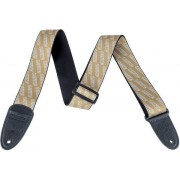 Gretsch Strap with White Logos Gold