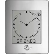 Ceas de perete DCF cu termohigrometru, argintiu, TFA 60.4507