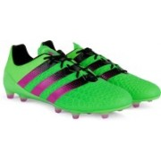 Adidas ACE 16.1 FG/AG Men Football Shoes(Black, Green, Pink)