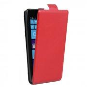 Up-Down Flip Funda protectora PU para NOKIA lumia 535-Red