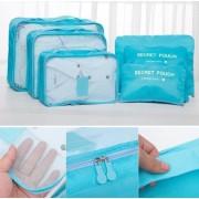 Utazási poggyász szervező Laundry Pouch Travel 6db-os készlet Bordó