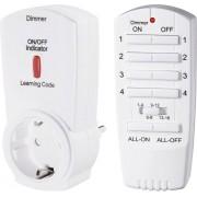 Set priza intermediara wireless cu dimmer si telecomanda RSL2, 16 canale, 300 W