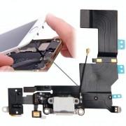Apple Oorspronkelijke versie staart Connector Flex kabel lader + hoofdtelefoon Audio Jack Ribbon Flex kabel voor iPhone 5S(White)