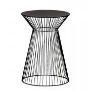 Bijzettafel Napels - zwart - 47x33 cm - Leen Bakker