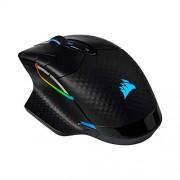 Corsair Dark Core RGB Pro SE, Mouse inalámbrico para Juegos FPS/MOBA con tecnología Slipstream, Negro, LED RGB retroiluminado, 18000 dpi, óptico, Qi Carga inalámbrica certificada