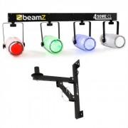 Beamz Light Set 4-Some II Conjunto de luzes LED 5 peças com suporte de parede
