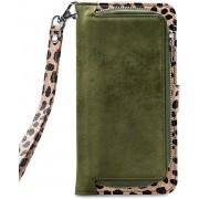 Mobilize 2in1 Gelly Wallet Zipper Case Samsung Galaxy A70 Olive/Leopard