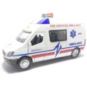 Tingoking Fire Service Ambulance Pull Back Die-Cast Cars Toys For Kids Friction Cars Die-Cast Cars Toys (Color May Vary)