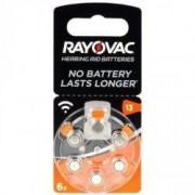 Baterii Pentru Proteze Auditive RAYOVAC 13 Acoustic PR 48 Zinc-Aer 6 Baterii / Set