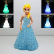 6th Dimensions Colorful Frozen Princess RGB LED Night Light Table Lamp Desk Bed Lighting for Gifting