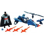 Action Figures Justice League Batman and Batcopter Vehicle and Figure
