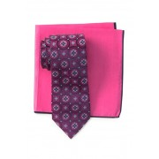Ted Baker London Silk Tie Pocket Square Set PINK