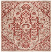 Covor Oriental & Clasic Revere, Patrat, Rosu/Bej, 200x200