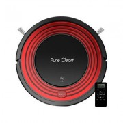 Pure Clean Automatic Programmable Robot Vacuum Cleaner, Red