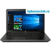 """Laptop HP ZBook 17 G4 (Procesor Intel® Core™ i7-7700HQ (6M Cache, up to 3.80 GHz), Kaby Lake, 17.3""""FHD, 8GB, 256GB SSD, nVidia Quadro M2200 @4GB, Wireless AC, FPR, Win10 Pro 64)"""